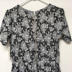 LuLaRoe Dresses - LuLaRoe Amelia Dress Large Black Gray Floral Print